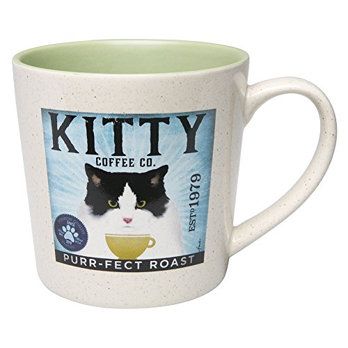 DEMDACO Tuxedo Cat Kitty Coffee Company Mug