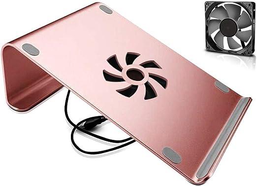 GLJ Sencillo Soporte para computadora portátil portátil Soporte de Escritorio Oficina de Aluminio Base USB Base de ...