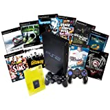 PS2 Console & 10 Game Bundle with Controller & 8MB Memory Card