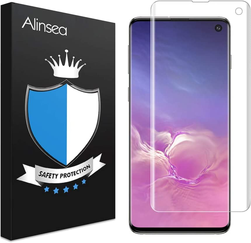 Screen Protector for Samsung Galaxy S10,Full Coverage Tempered Glass Designed for Ultrasonic Fingerprint 2 Pack High Definition Suitable for Galaxy S10 Anti-Scratch