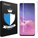 Alinsea Screen Protector for Samsung Galaxy S10 Tempered Glass [Full Adhesive] [Fingerprint Sensor Readable] [3D Glass] [Case