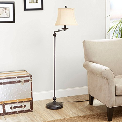 Price comparison product image Better Homes and Gardens Floor Lamp with Swing Arm