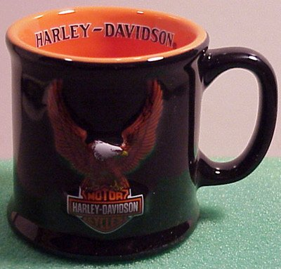(Harley Davidson Eagle Soars Mug Shot Glass -)