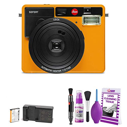 Leica Sofort Instant Film Camera (Orange) – Bundle with Deluxe Cleaning Kit