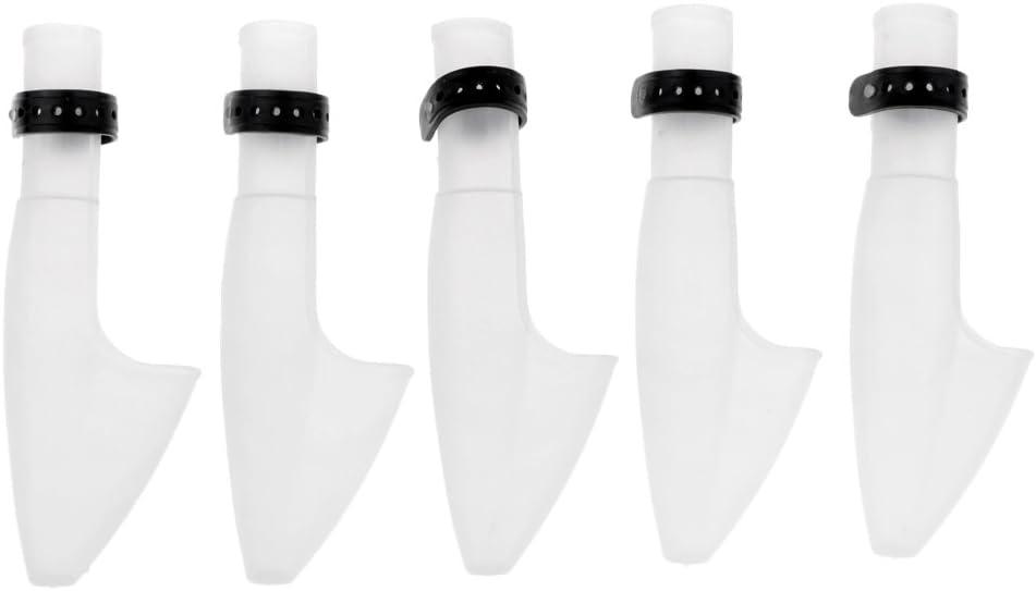 D DOLITY 5X Angelruten-Kappen-Schutz Fischen-Rod-Kappe aus Kunstoff Angelzubeh/ör