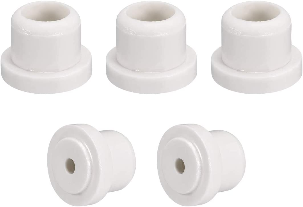 uxcell 5pcs 6.2mm Hole Dia Ceramic Insulator Bead Round Shaped Insulation Bead 18mm Inner Dia for Heat Shrink Tubing Heating Wire