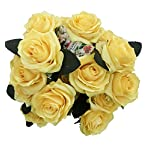 DALAMODA-Light-Yellow-Artificial-Silk-Roses-2-Bundles-with-Total-20-Heads-Artificial-Silk-Flower-Rose-DIY-Wedding-Bride-Bouquet-Any-Craft