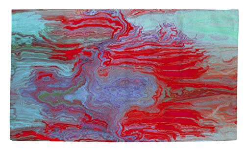 Thumbprintz Dobby Bath Rug, 4 by 6-Feet, Coral Glass