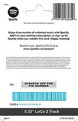 Amazon.com: Tarjeta de regalo de Spotify: Tarjetas de regalo
