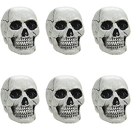 Amscan Mini Plastic Skulls | 36 Count (Value Pack) | Great for Haunted Mansion and Halloween Party Decoration