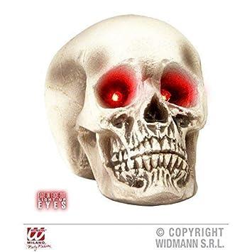lively moments Cráneo de calabera con el rojo - que brilla ...