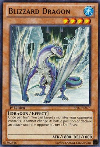 Yu-Gi-Oh! - Blizzard Dragon (BP02-EN075) - Battle Pack 2: War of the Giants - 1st Edition - Common
