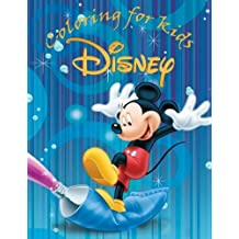 Coloring for kids Disney: This A4 100 page coloring book of cartoon fun to color from Donald duck, Mickey mouse and friends to Sylvester the cat and Winnie the pooh. Great for kids age 5+.