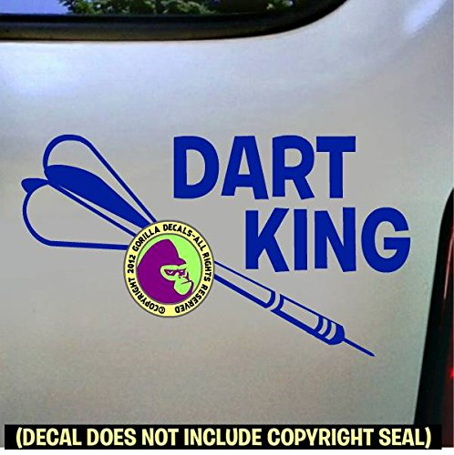 (Darts - DART KING Vinyl Decal Sticker E)