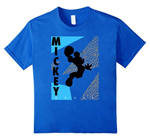 Kids Disney Mickey Mouse Basketball T-Shirt 12 Royal Blue - Mickey Basketball