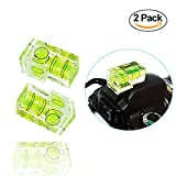 LS Photography [2-Pack] Double Axis Dimension Camera Spirit Bubble Level Hot Shoe Mount, Balance Shot for Olympus, Canon, Nikon, Panosonic, Sony, and DSLR Photography, LGG685