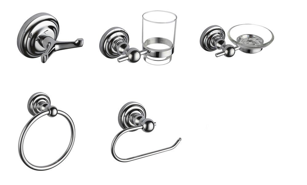 Axentia Rio 282460 Set of 4 Bathroom Accessories Ceramic