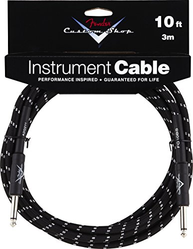 - Fender Custom Shop Performance Series Cable (Straight-Straight Angle) for electric guitar, bass guitar, electric mandolin, pro audio