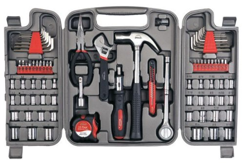 (Apollo Tools DT9411 79 Piece Multi-Purpose Tool Set with Sockets and Most Reached for Hand Tools in Storage Case)