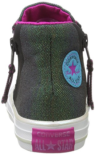 Converse All Star Sport Zip - Zapatillas Unisex Niños Mehrfarbig (Almost black/magenta Glow/White)