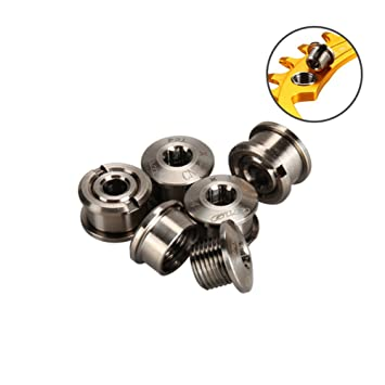 4PCS Steel Bicycle Crankset Nuts Fixing Cap Chain wheel Screw Bolts Nuts