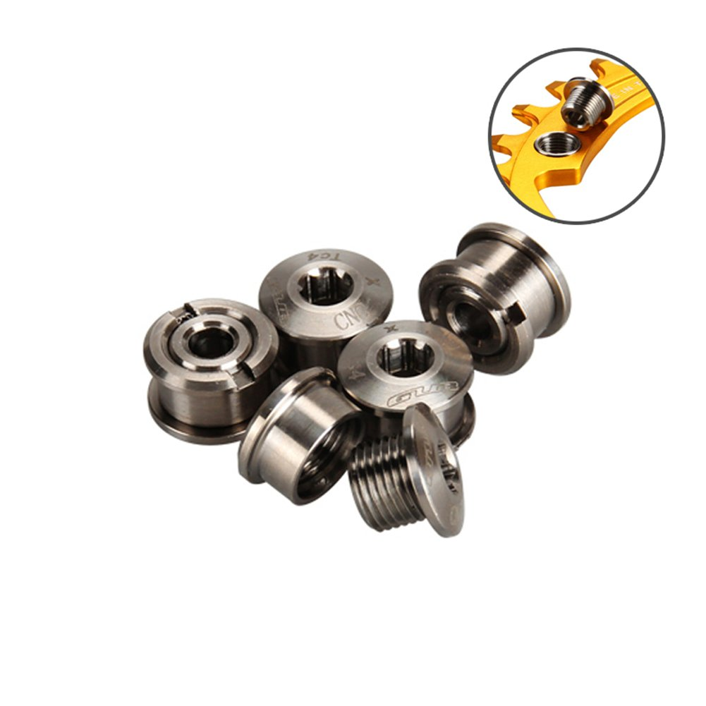 Gub Titanium Crankset Chainring Bolts Nuts M8 for Fixed Gear Track Cycling Chain Ring Bolts Bicycle Accessories 5pcs/lot