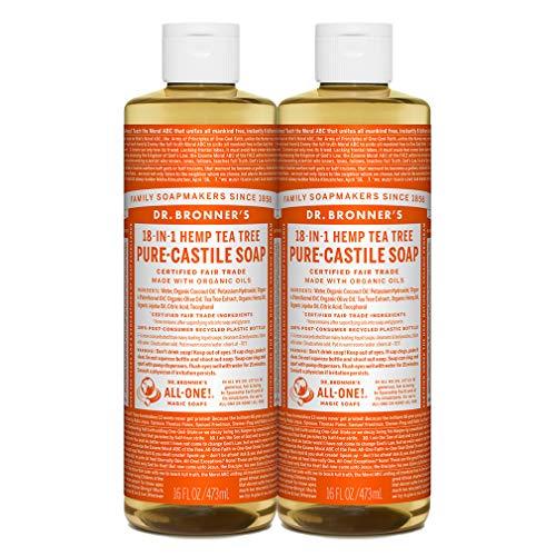 Dr. Bronner's - Pure-Castile Liquid Soap (Tea Tree, 32 Fl Oz (Pack of 1)