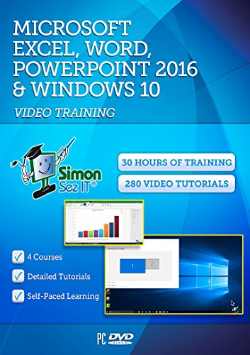 Microsoft Excel, Word, Powerpoint 2016 and Windows 10 - 30 Hours of Video Training Tutorials (Training Video)