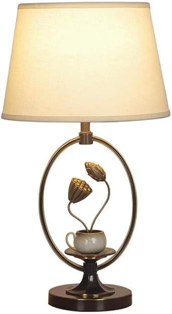 Lámpara de mesa de cobre vintage Dormitorio Mesita de noche Sala ...