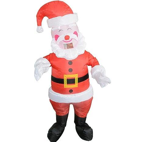 keruite Traje Inflable de Santa Claus de la Navidad Adulto ...
