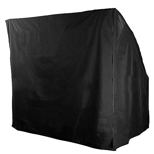 bennyuesdfd 3 Seater Swing Cover Waterproof Outdoor Garden Patio Swing Hammock Sunshield Cover Sun Loungers Cover Black 220x170x145CM