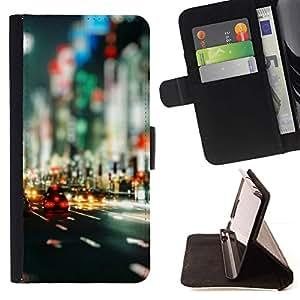 Momo Phone Case / Flip Funda de Cuero Case Cover - Bokeh Calles;;;;;;;; - Sony Xperia Z1 Compact D5503