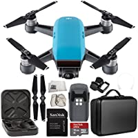 DJI Spark Portable Mini Drone Quadcopter Starter Portable Bag Shoulder Travel Case Bundle (Sky Blue)