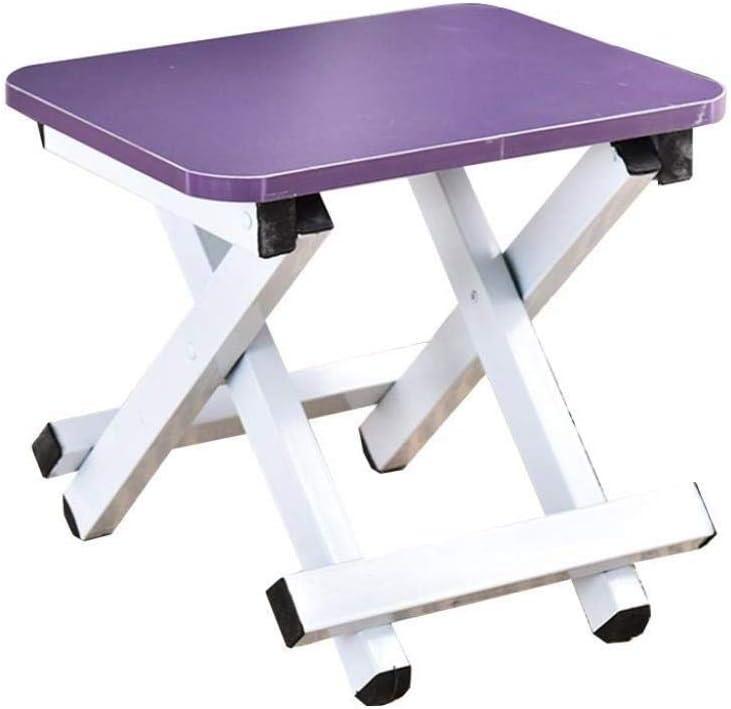 LYZZDY Yxsd Taburete Plegable para escalones - Taburete Plegable para niños y Adultos, Taburete Plegable para peldaños del baño del huerto (Color : Purple)
