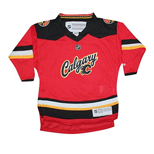 Toddler CALGARY FLAMES Hockey Jersey / Sweater 2T/4T Red - Calgary Flames Hockey Jersey