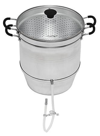 Exprimidor de vapor de aluminio con tapa de cristal templado por Victorio vkp1148: Amazon.es: Hogar