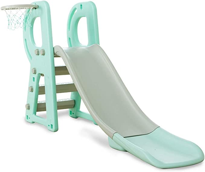 PNYGJQ Escalador Deportivo y tobogán for niños Tobogán Interior for niños pequeño Juguete Escalera Deslizante combinación de Canasta de Almacenamiento Juego for niños pequeños al Aire Libre for niños: Amazon.es: Juguetes y