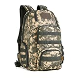 Protector Plus 40L Tactical MOLLE Assault Backpack Computer Daypack Military Gear Rucksack Waterproof Bag Pack Sport Outdoor for Hunting Camping Trekking Cycling