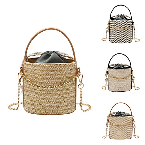 Crossbody Bucket Travel Pouch for Handbag Lastnight Bag Girls Women Drawstring Black Khaki SIAEwqExd