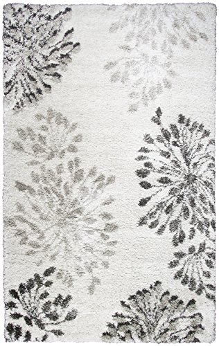 Rizzy Home Adana Collection AN698A Modern Floral Shag Area Rug 5'3