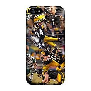 Durable Defender Case For Iphone 5/5s Tpu Cover(pittsburgh Steelers)