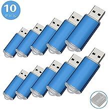 RAOYI 10Pack 8G USB Flash Drive USB 2.0 Memory Stick Memory Drive Pen Drive Blue