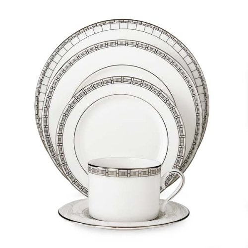 Lenox Timeless Bone China Platinum Banded 5-Piece Place Setting, Service for 1