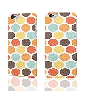Cute vintage retro large polka dots grungy effects Photo Plastic Hard Customized Personalized 3D Case For iphone 5c