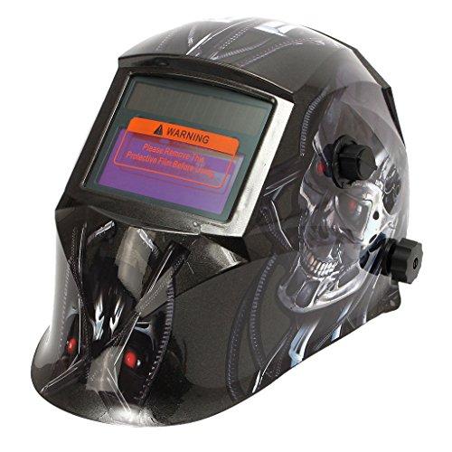 Homyl Patrón de Moda, Casco de Soldadura de Oscurecimiento Automático, Máscara de Soldador, Energía Solar - # 1
