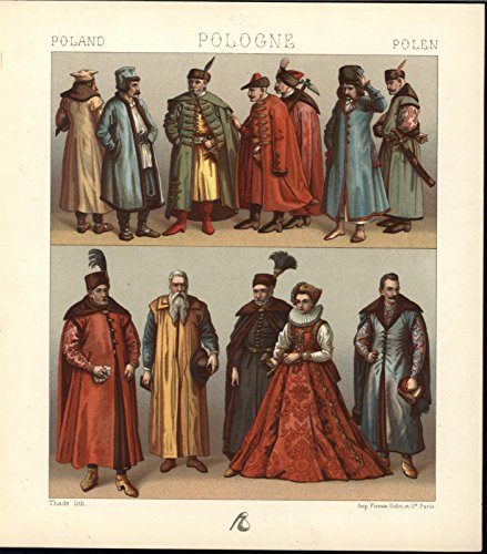 Polish Beautiful Finely Woven Dress Jewels c.1870 antique chromolithograph print ()