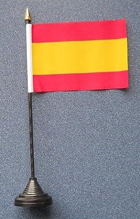 España sin escudo País Escritorio Mesa Bandera: Amazon.es: Hogar