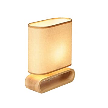Lámparas de mesa de noche de madera maciza Lámparas de mesa ...