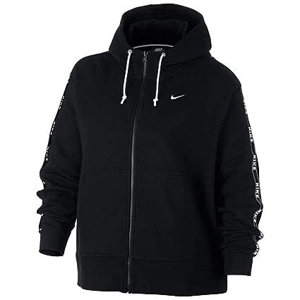 nike w nsw hoodie logo tape sweatshirt femme