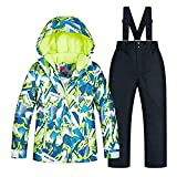 JELEUON Baby Boys Kids Sport Outdoor Mountain Waterproof Windproof Snowboarding Jackets and Snow Ski Bib Pants Insulated Snowsuit Set US6 Snowsuit US 6